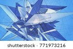 blue beautiful illustration... | Shutterstock . vector #771973216