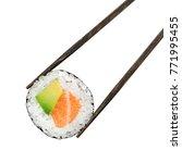 sake avocado roll | Shutterstock . vector #771995455