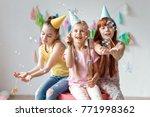 portrait of three beautiful...   Shutterstock . vector #771998362