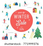 winter sale banner  poster ... | Shutterstock .eps vector #771999376