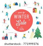 winter sale banner  poster ... | Shutterstock .eps vector #771999376