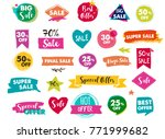 super sale labels  modern hand...   Shutterstock .eps vector #771999682