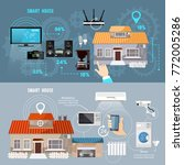 smart house banner. remote...   Shutterstock .eps vector #772005286