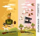 hunting sport banners  hunter... | Shutterstock .eps vector #772005712