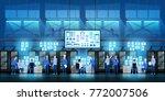 it engineers in big data center ... | Shutterstock .eps vector #772007506