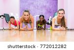 low angle front view of four...   Shutterstock . vector #772012282