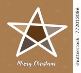 the christmas star in brown and ... | Shutterstock .eps vector #772013086