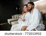 romantic couple enjoying...   Shutterstock . vector #772013902