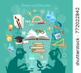 education infographic. open... | Shutterstock .eps vector #772022842