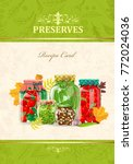 cozy banner with canned... | Shutterstock .eps vector #772024036