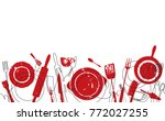cooking pattern. background... | Shutterstock .eps vector #772027255