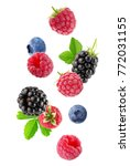 Berry Mix Isolated On A White...