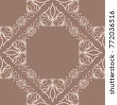 ornamental design. modern... | Shutterstock . vector #772036516