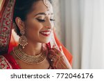 stunning indian bride dressed... | Shutterstock . vector #772046176