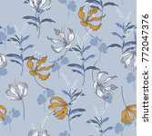 trendy  floral pattern in the... | Shutterstock .eps vector #772047376