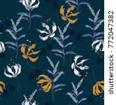 trendy  floral pattern in the... | Shutterstock .eps vector #772047382