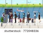 airport passengers registration ... | Shutterstock .eps vector #772048336