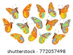 find a second wing for a... | Shutterstock .eps vector #772057498