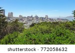 sunny panoramic scenery around... | Shutterstock . vector #772058632