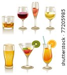 collection of cocktails and... | Shutterstock . vector #77205985