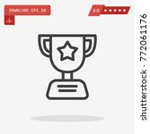 outline award icon isolated on...