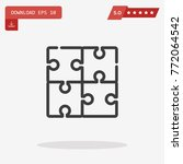 outline puzzle icon isolated on ...