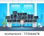 professional programmer working ... | Shutterstock .eps vector #772066678
