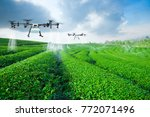 agriculture drone fly to... | Shutterstock . vector #772071496