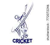 illustration of cricket batman | Shutterstock .eps vector #772072246