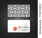 business card front and back... | Shutterstock .eps vector #772074202