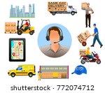 delivery service icons set.... | Shutterstock .eps vector #772074712