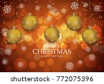 christmas light vector... | Shutterstock .eps vector #772075396