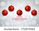 christmas light vector... | Shutterstock .eps vector #772075462