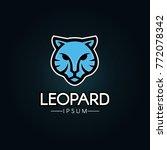 leopard logo template. | Shutterstock .eps vector #772078342