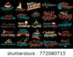 illustration of merry christmas ... | Shutterstock .eps vector #772080715