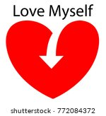 love my self sign concept ... | Shutterstock .eps vector #772084372