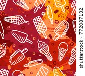 seamless pattern with ice cream | Shutterstock .eps vector #772087132
