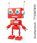red reto toy robot isolated on... | Shutterstock . vector #772087855