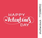 happy valentines day large... | Shutterstock .eps vector #772088902