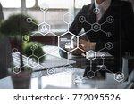 industry 4.0 concept  smart... | Shutterstock . vector #772095526
