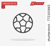 football ball icon in trendy...