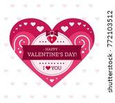 valentine's day love heart for...   Shutterstock .eps vector #772103512