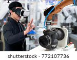 virtual reality technology in... | Shutterstock . vector #772107736