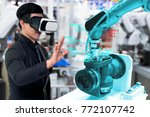 virtual reality technology in... | Shutterstock . vector #772107742