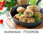 homemade meatballs with... | Shutterstock . vector #772109236