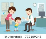 mom and boy to see doctor... | Shutterstock .eps vector #772109248