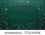 seamless pattern on the theme... | Shutterstock . vector #772114336
