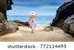 woman on the krabi island... | Shutterstock . vector #772114495