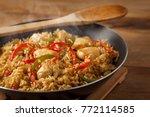 fried rice nasi goreng with...   Shutterstock . vector #772114585