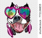 glamorous bulldog girl on t... | Shutterstock .eps vector #772138855